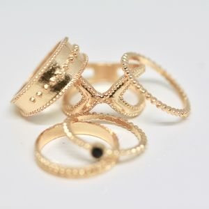 18k Gold Dipped Stack Rings